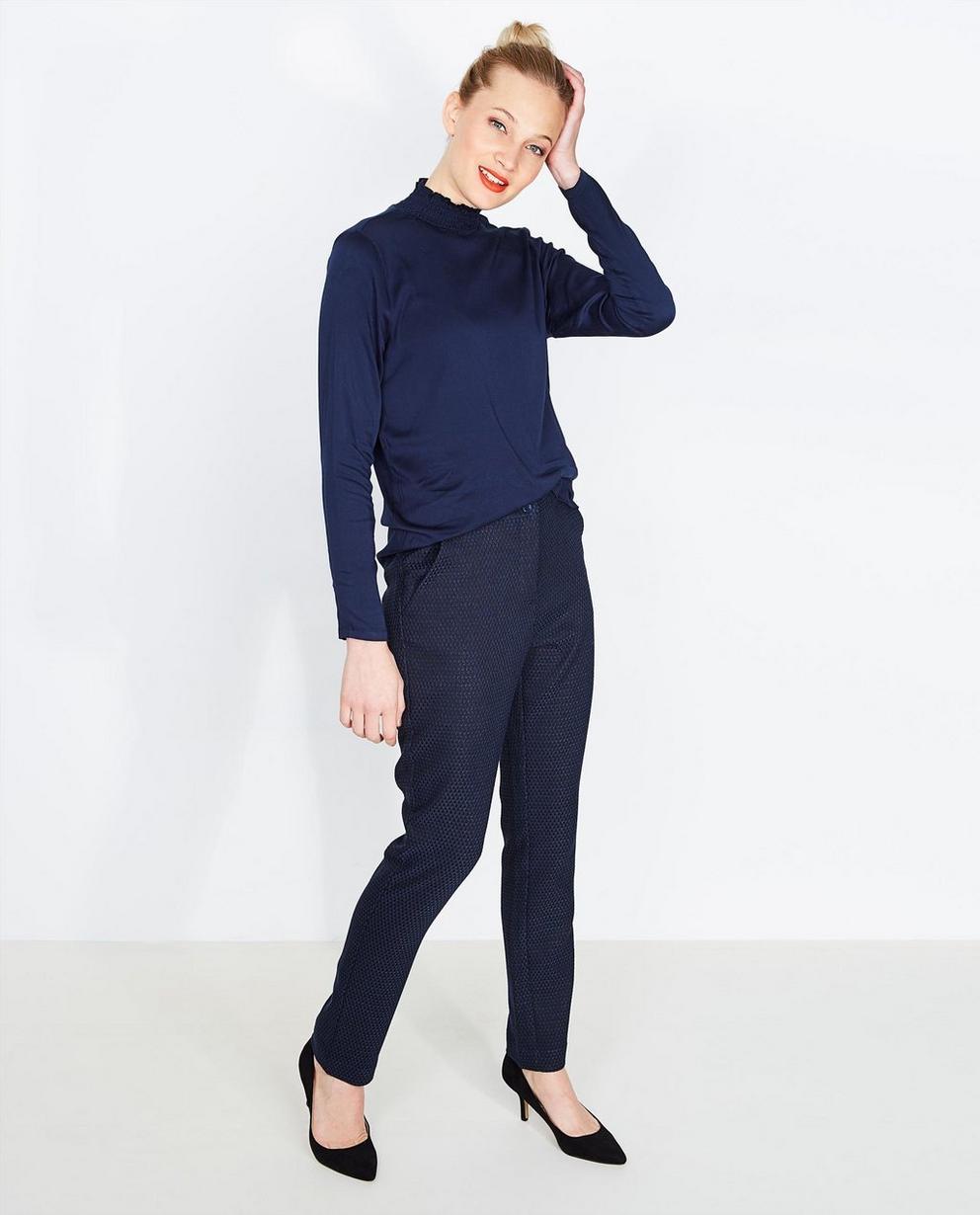 Pantalon avec un relief - bleu, Soaked in Luxury - Soaked in Luxury